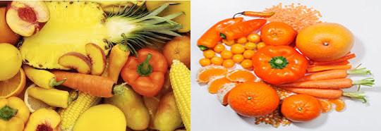 خواص میوه ها و سبزیجات بر اساس رنگ آنها
